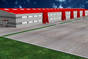Study of the THRACE PLASTIC factory premises in the industrial zone of Stara Pazova, Serbia.